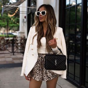NWT Zara Frayed Jacket With Metal Button